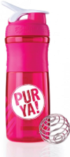 PURYA!  Blender Bottle Sportmixer Bisphenolfrei, pink 800 ml