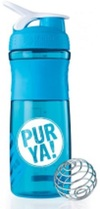 PURYA!  Blender Bottle Sportmixer Bisphenolfrei, blau 800 ml
