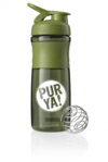 PURYA!  Blender Bottle Sportmixer Bisphenolfrei, grün 800 ml